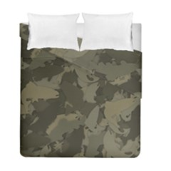 Country Boy Fishing Camouflage Pattern Duvet Cover Double Side (full/ Double Size) by allthingseveryday