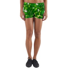 Inside The Grass Yoga Shorts by FunnyCow