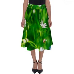 Inside The Grass Perfect Length Midi Skirt
