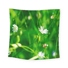 Inside The Grass Square Tapestry (small) by FunnyCow