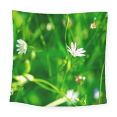 Inside The Grass Square Tapestry (large)