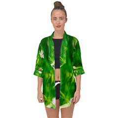 Inside The Grass Open Front Chiffon Kimono by FunnyCow