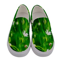 Inside The Grass Women s Canvas Slip Ons