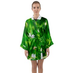 Inside The Grass Long Sleeve Kimono Robe by FunnyCow