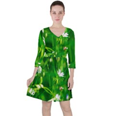 Inside The Grass Ruffle Dress