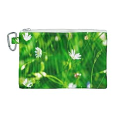 Inside The Grass Canvas Cosmetic Bag (large)