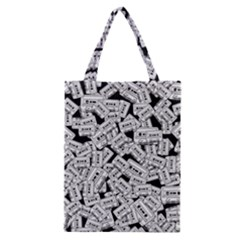 Audio Tape Pattern Classic Tote Bag by Valentinaart