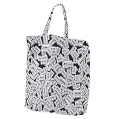 Audio Tape Pattern Giant Grocery Tote