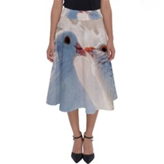 Doves In Love Perfect Length Midi Skirt by FunnyCow
