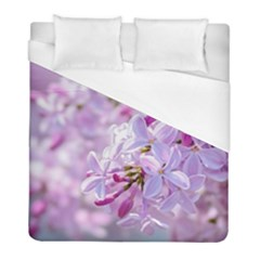 Pink Lilac Flowers Duvet Cover (full/ Double Size) by FunnyCow