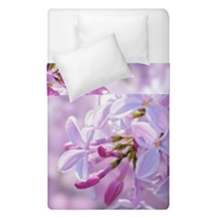 Pink Lilac Flowers Duvet Cover Double Side (single Size) by FunnyCow