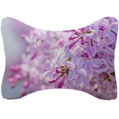 Pink Lilac Flowers Seat Head Rest Cushion by FunnyCow