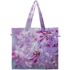 Pink Lilac Flowers Canvas Travel Bag by FunnyCow