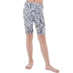 Willow Foliage Abstract Kids  Mid Length Swim Shorts
