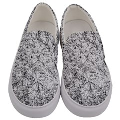 Willow Foliage Abstract Men s Canvas Slip Ons