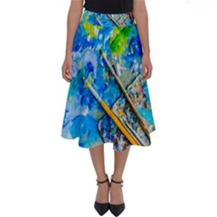 Artist Palette And Brushes Perfect Length Midi Skirt by FunnyCow