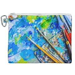Artist Palette And Brushes Canvas Cosmetic Bag (xxl) by FunnyCow
