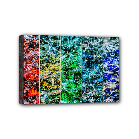 Abstract Of Colorful Water Mini Canvas 6  X 4  by FunnyCow