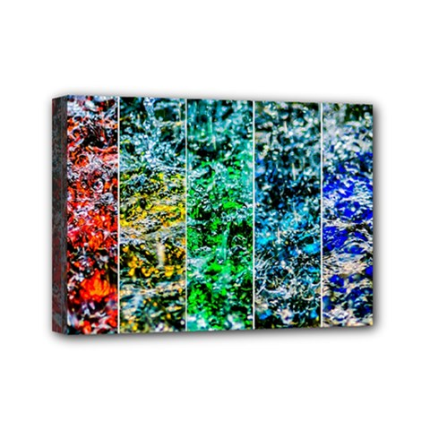 Abstract Of Colorful Water Mini Canvas 7  X 5  by FunnyCow