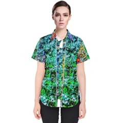 Abstract Of Colorful Water Women s Short Sleeve Shirt by FunnyCow