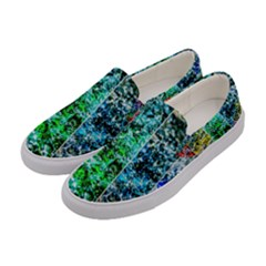Abstract Of Colorful Water Women s Canvas Slip Ons by FunnyCow