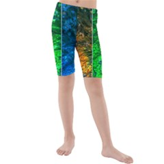 Rainbow Of Water Kids  Mid Length Swim Shorts by FunnyCow
