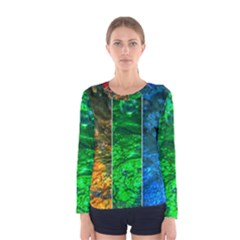 Rainbow Of Water Women s Long Sleeve Tee by FunnyCow