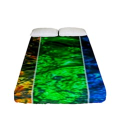 Rainbow Of Water Fitted Sheet (full/ Double Size) by FunnyCow