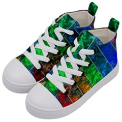 Rainbow Of Water Kid s Mid Top Canvas Sneakers by FunnyCow