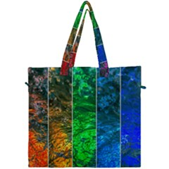 Rainbow Of Water Canvas Travel Bag by FunnyCow
