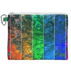 Rainbow Of Water Canvas Cosmetic Bag (xxl) by FunnyCow