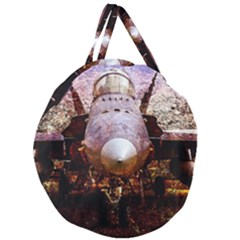 The Art Of Military Aircraft Giant Round Zipper Tote by FunnyCow