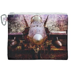 The Art Of Military Aircraft Canvas Cosmetic Bag (xxl) by FunnyCow