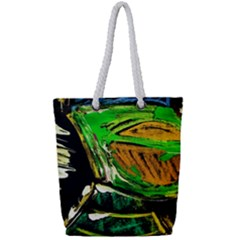 Lillies In The Terracota Vase 5 Full Print Rope Handle Tote (small) by bestdesignintheworld