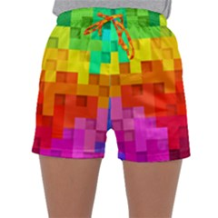 Abstract Background Square Colorful Sleepwear Shorts