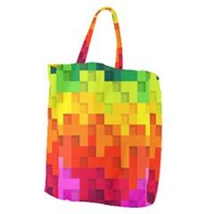 Abstract Background Square Colorful Giant Grocery Tote