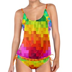 Abstract Background Square Colorful Tankini Set
