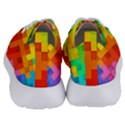 Abstract Background Square Colorful Women s Lightweight Sports Shoes View4