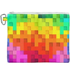 Abstract Background Square Colorful Canvas Cosmetic Bag (xxxl)