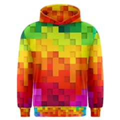 Abstract Background Square Colorful Men s Overhead Hoodie