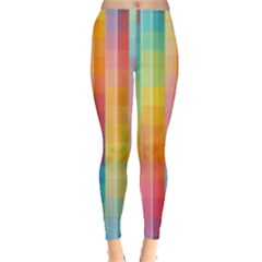 Background Colorful Abstract Leggings