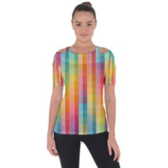 Background Colorful Abstract Short Sleeve Top