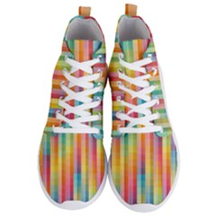 Background Colorful Abstract Men s Lightweight High Top Sneakers