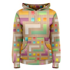 Abstract Background Colorful Women s Pullover Hoodie