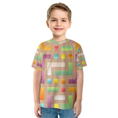 Abstract Background Colorful Kids  Sport Mesh Tee