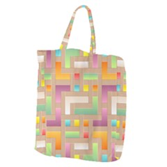 Abstract Background Colorful Giant Grocery Tote