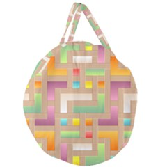Abstract Background Colorful Giant Round Zipper Tote