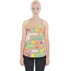 Abstract Background Colorful Piece Up Tank Top