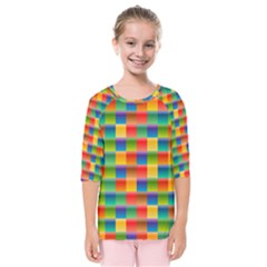 Background Colorful Abstract Kids  Quarter Sleeve Raglan Tee