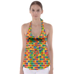 Background Colorful Abstract Babydoll Tankini Top
